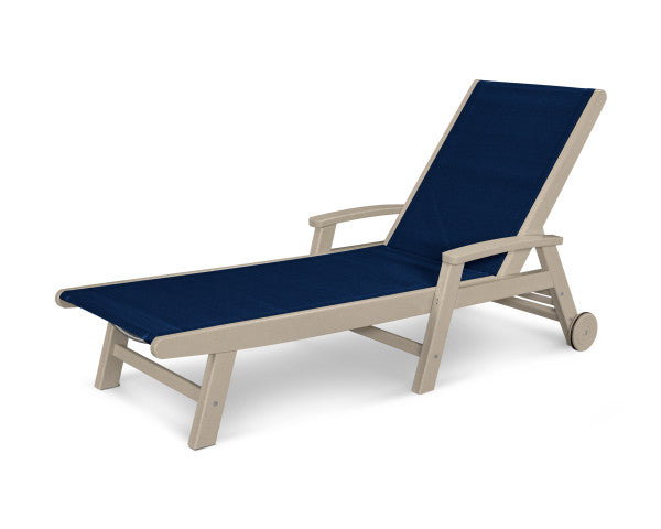 Coastal Chaise with Wheels