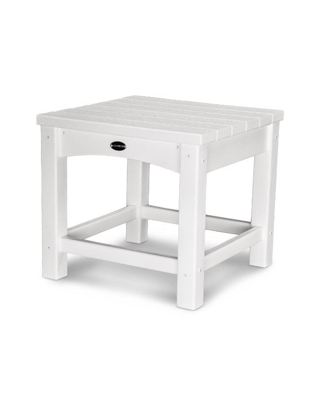"CLT1818WH Club 18"" Side Table in White"