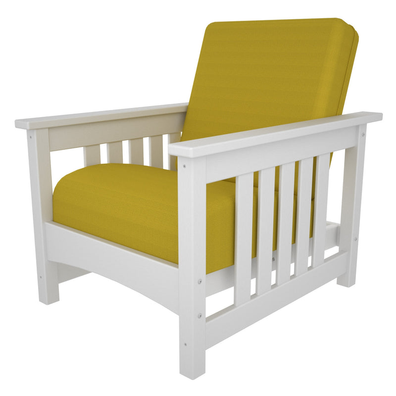 CMC23WH-5457 Mission Deep Seating Chair with a White frame and Sunflower Yellow fabric