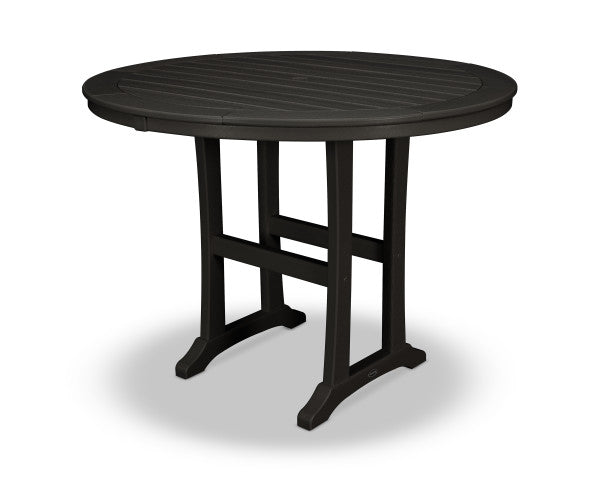 "Nautical Trestle 48"" Round Counter Table"