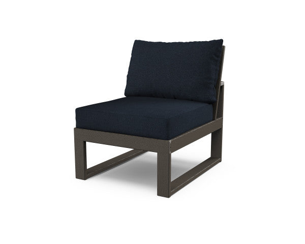 Edge Modular Armless Chair - Vintage Finish