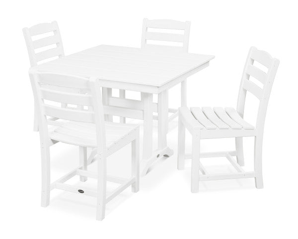 La Casa Cafe 5 Piece Farmhouse Side Chair Dining Set