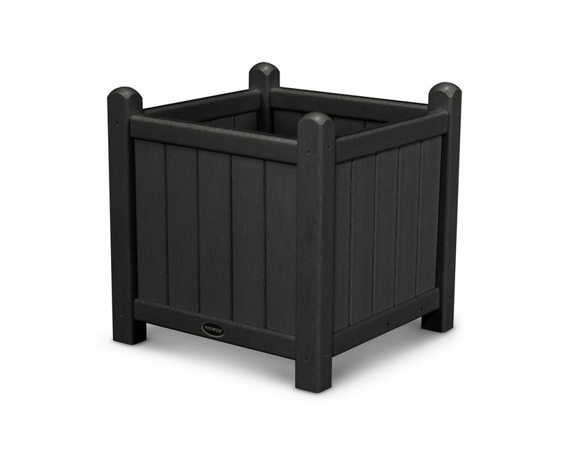 GP16BL Traditional 16in Garden Planter in Black