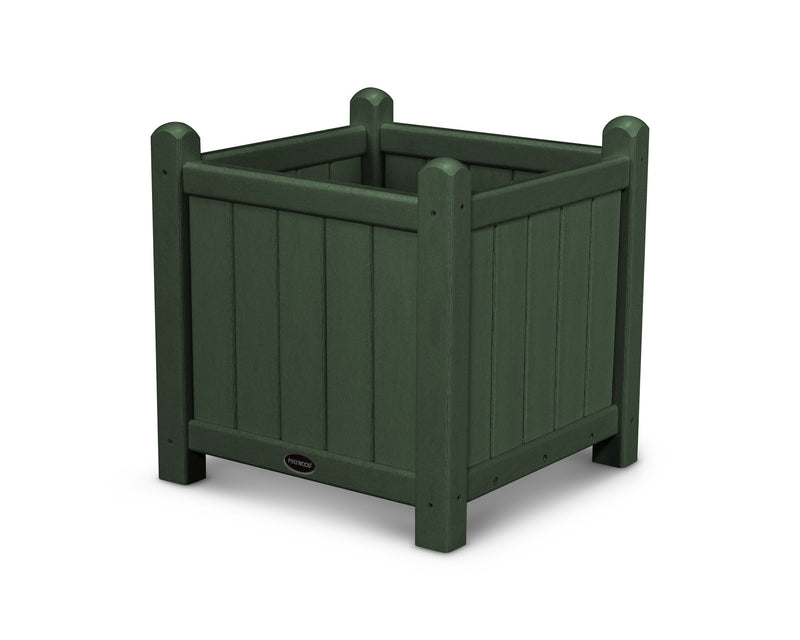GP16GR Traditional 16in Garden Planter in Green
