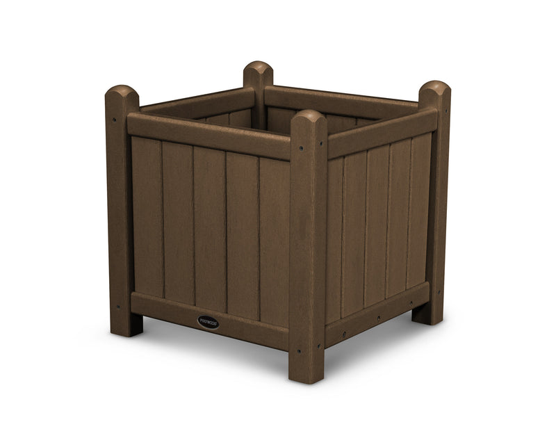 GP16TE Traditional 16in Garden Planter in Teak