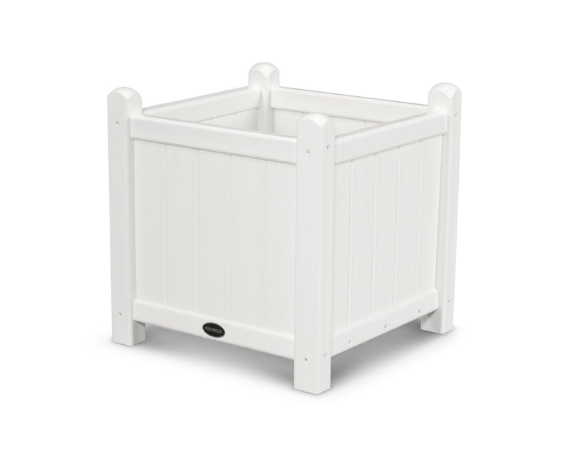 GP16WH Traditional 16in Garden Planter in White
