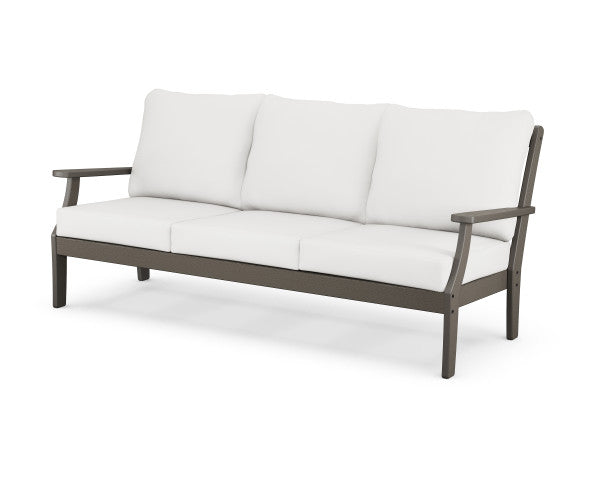 Braxton Deep Seating Sofa - Vintage Finish