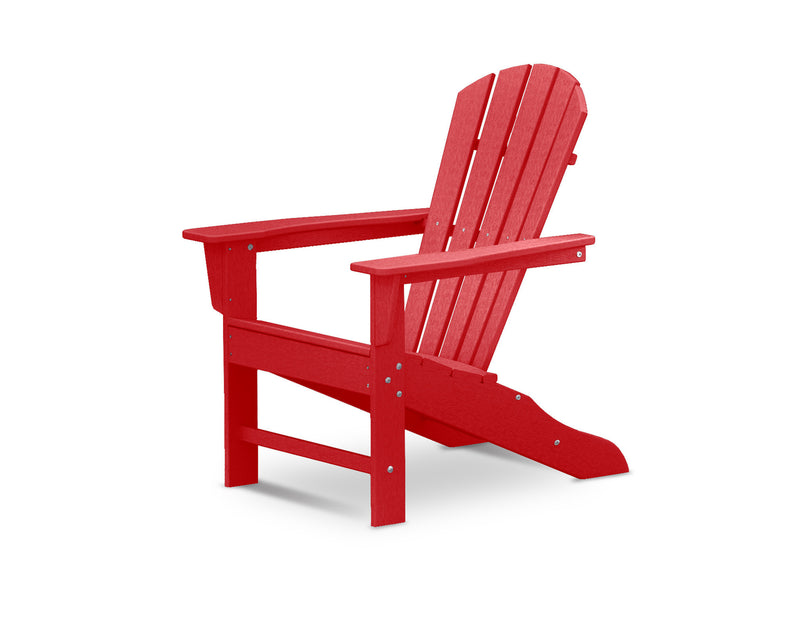 HNA10-SR Palm Coast Adirondack Chair in Sunset Red