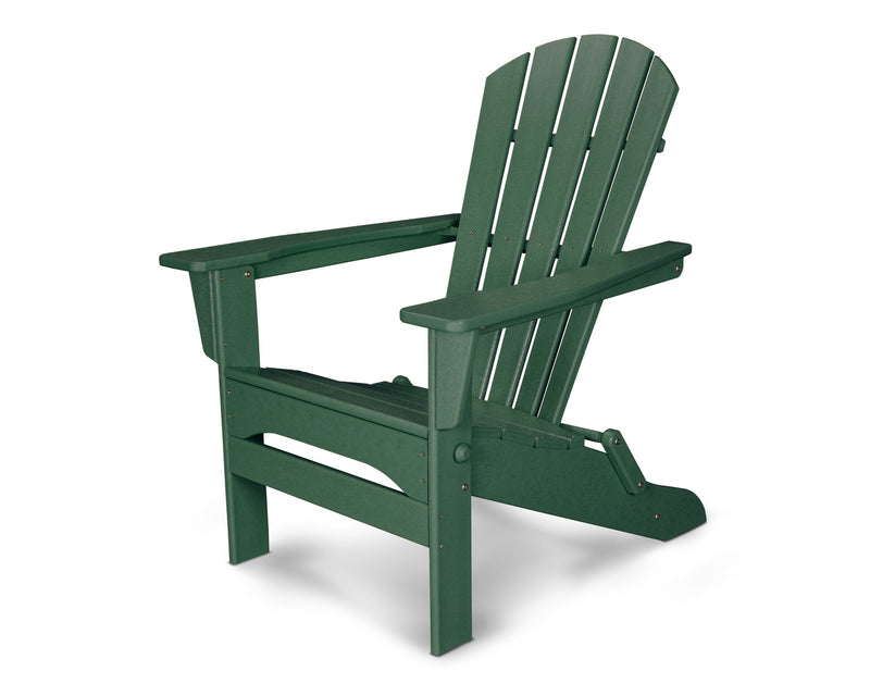 HNA110GR Palm Coast Folding Adirondack in Green