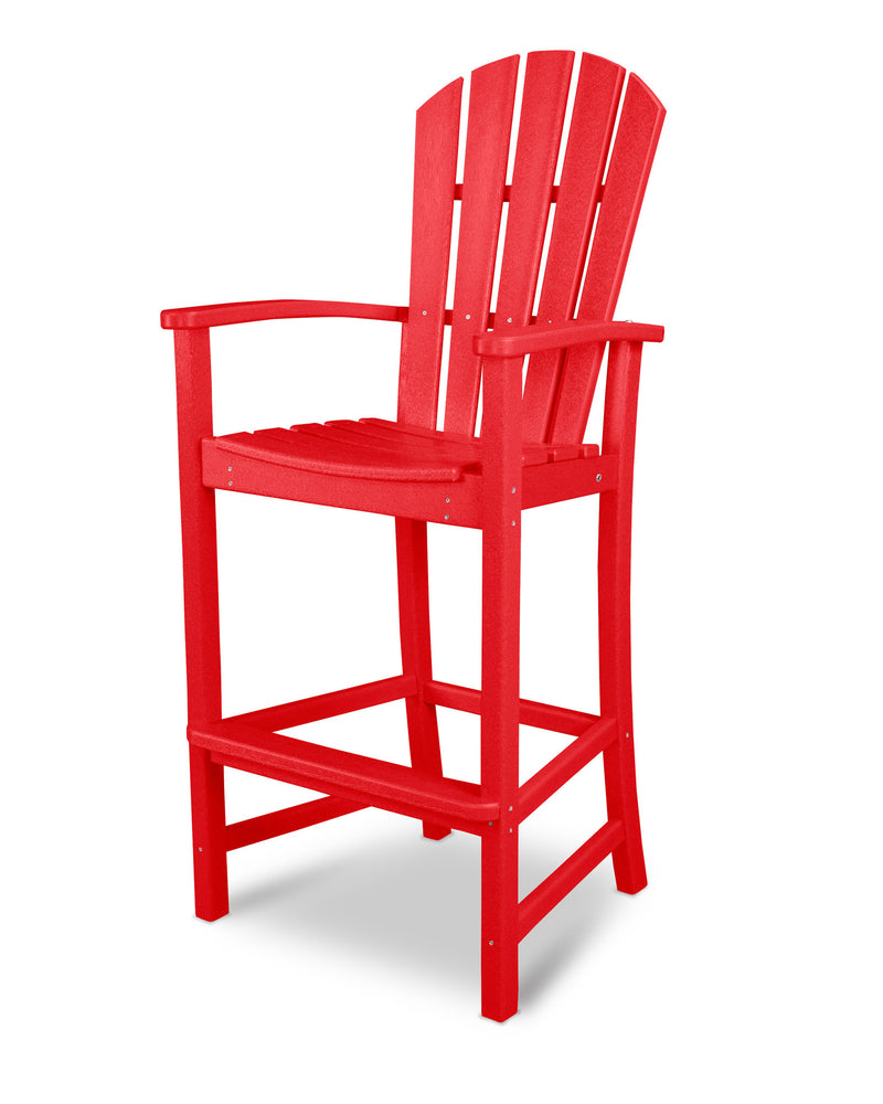 HND202SR Palm Coast Bar Chair in Sunset Red