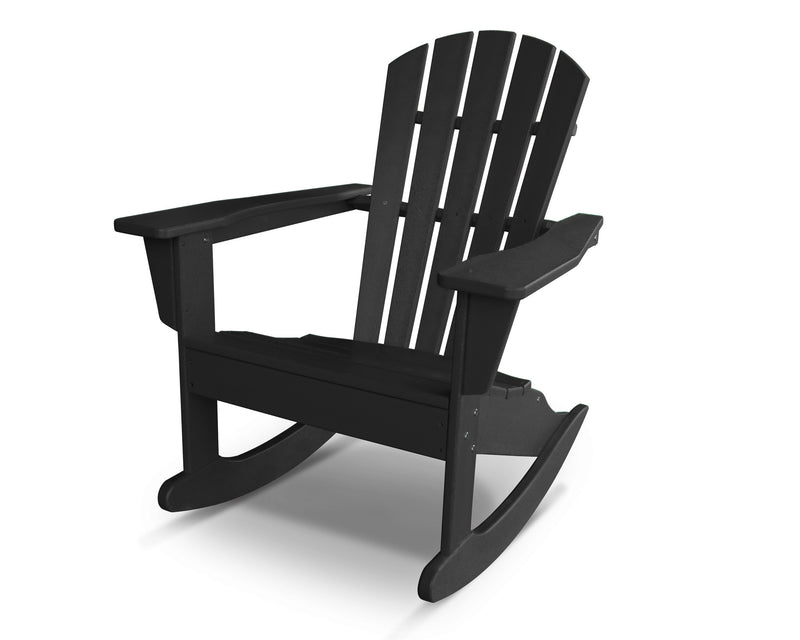 HNR10BL Palm Coast Adirondack Rocker in Black