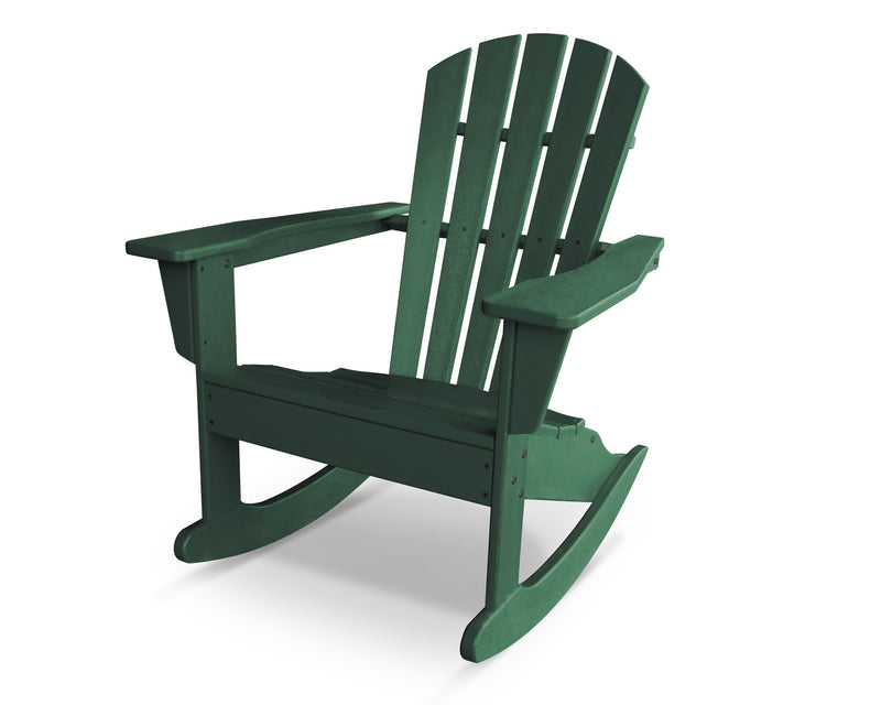 HNR10GR Palm Coast Adirondack Rocker in Green