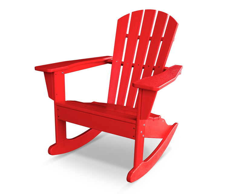 HNR10SR Palm Coast Adirondack Rocker in Sunset Red