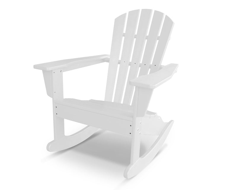 HNR10WH Palm Coast Adirondack Rocker in White