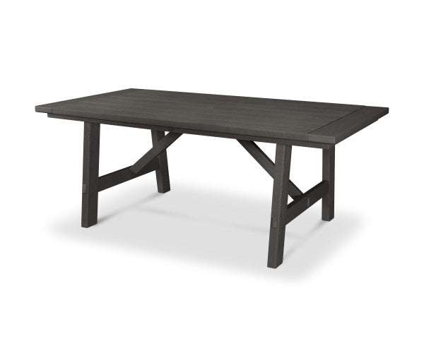 "Rustic Farmhouse 39"" x 75"" Dining Table - Vintage Finish"