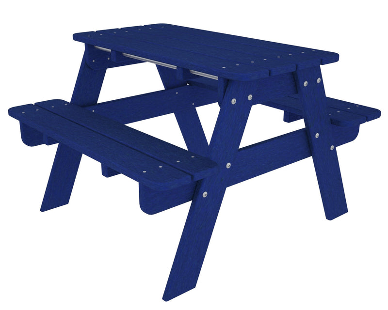 KT130PB Kids Picnic Table in Pacific Blue