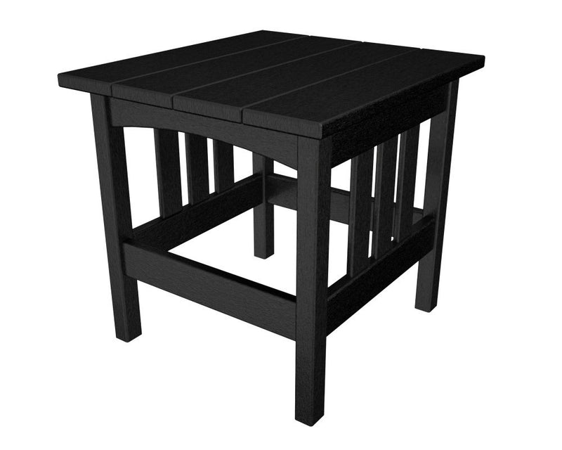 MS2224BL Mission 22in x 24in Side Table in Black
