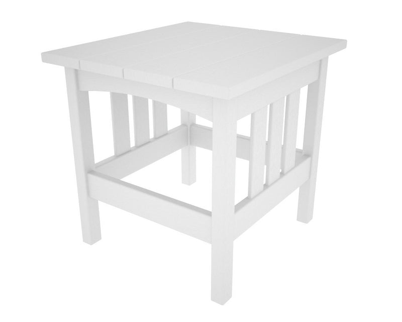 MS2224WH Mission 22in x 24in Side Table in White