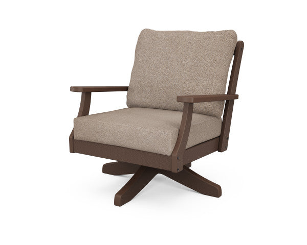 Braxton Deep Seating Swivel Chair - Classic Finish