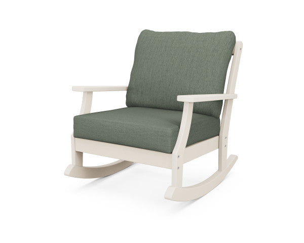 Braxton Deep Seating Rocking Chair - Classic Finish
