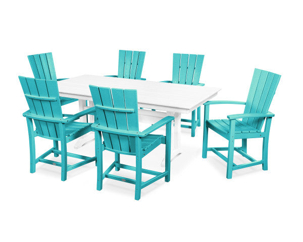 Quattro 7 Piece Farmhouse Dining Set
