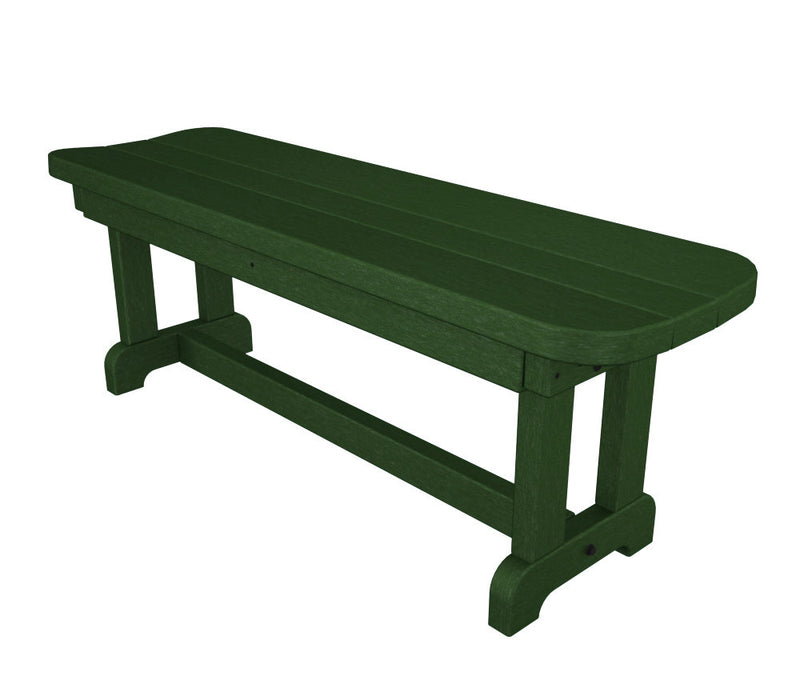 PBB48GR Park 48inch Backless Bench Green
