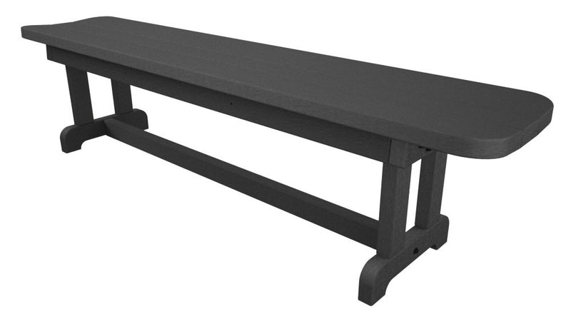PBB72GY Park 72inch Harvester Backless Bench Slate Grey