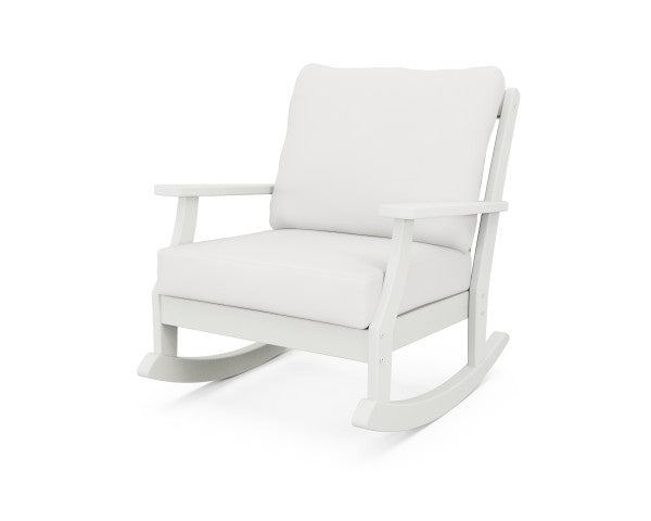 Braxton Deep Seating Rocking Chair - Vintage Finish