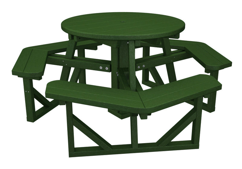 PH36GR Park 36inch Round Picnic Table in Green