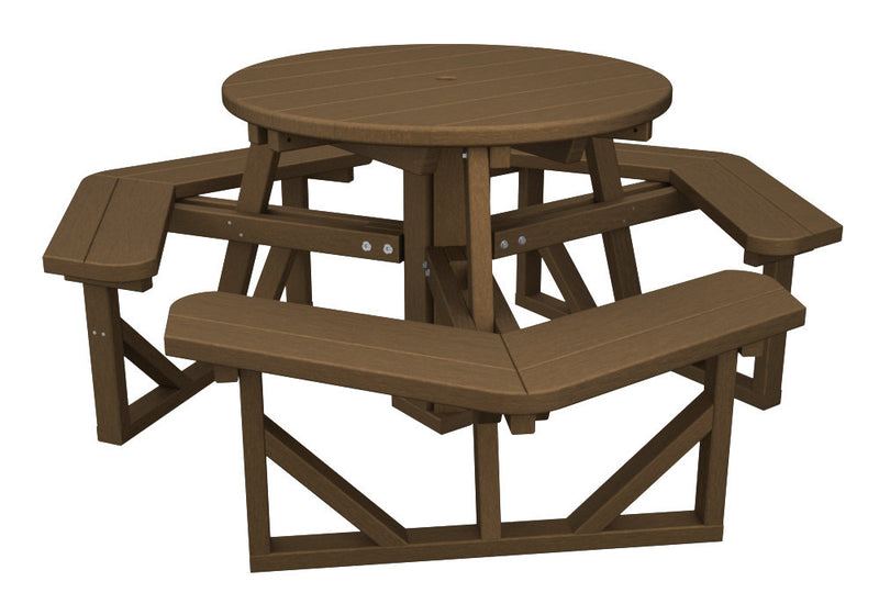 PH36TE Park 36inch Round Picnic Table in Teak