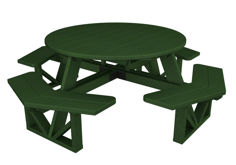 Composite Tagged Picnic Table Pure Patio - Composite octagon picnic table