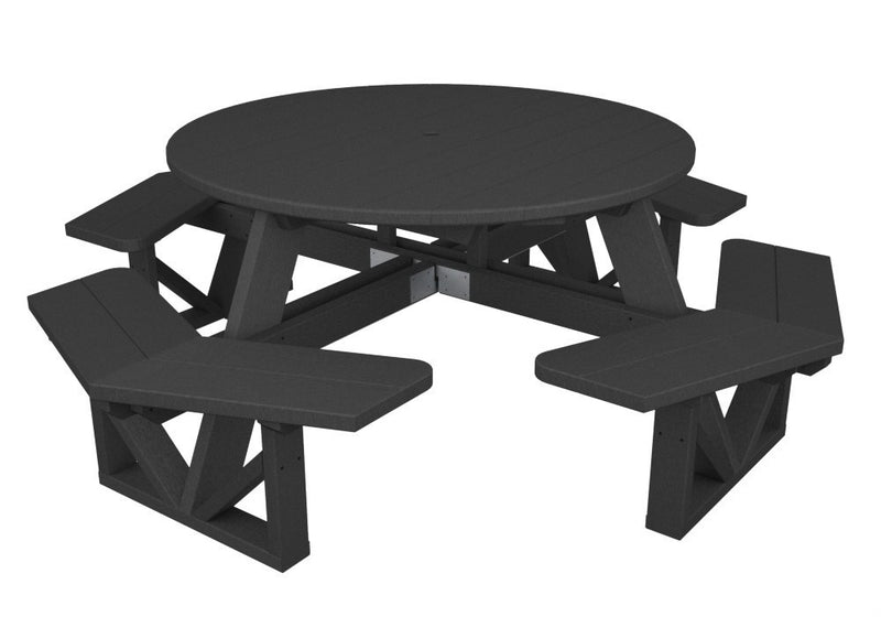 PH53GY Park 53inch Octagon Table in Slate Grey
