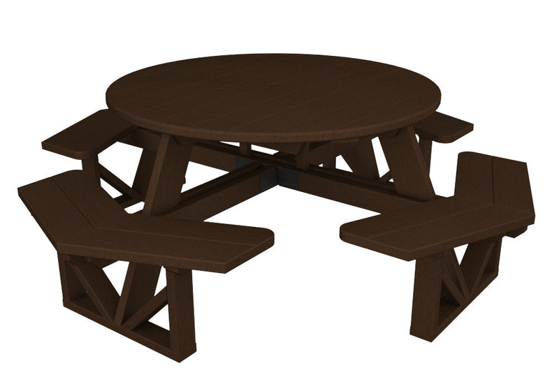 PH53MA Park 53inch Octagon Table in Mahogany