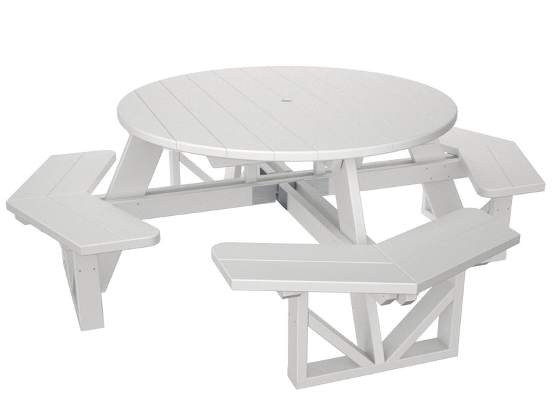 PH53WH Park 53inch Octagon Table in White