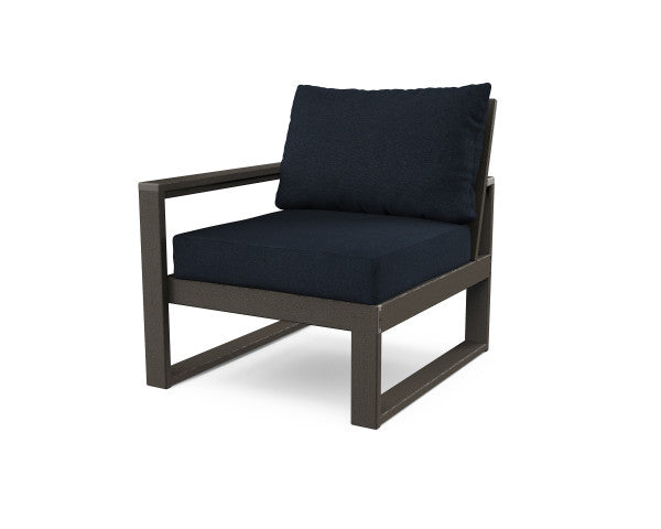 Edge Modular Left Chair - Vintage Finish