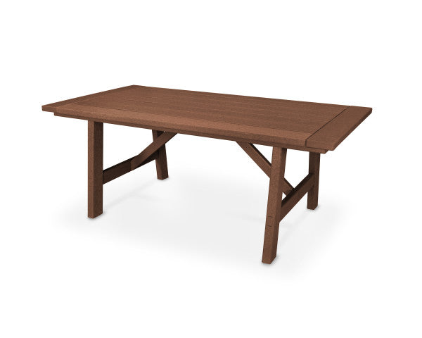 "Rustic Farmhouse 39"" x 75"" Dining Table - Classic Finish"