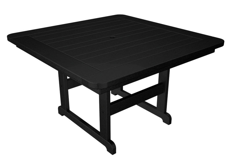 PST48BL Park 48inch Square Picnic Table in Black
