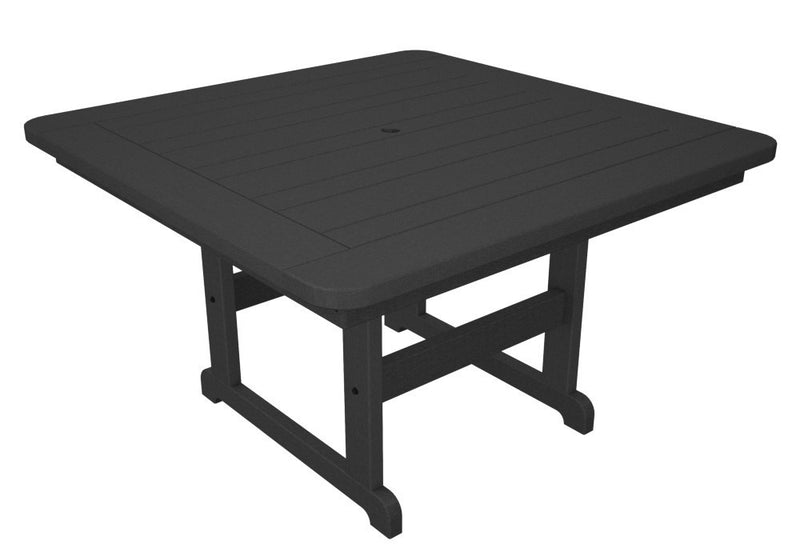 PST48GY Park 48inch Square Picnic Table in Slate Grey