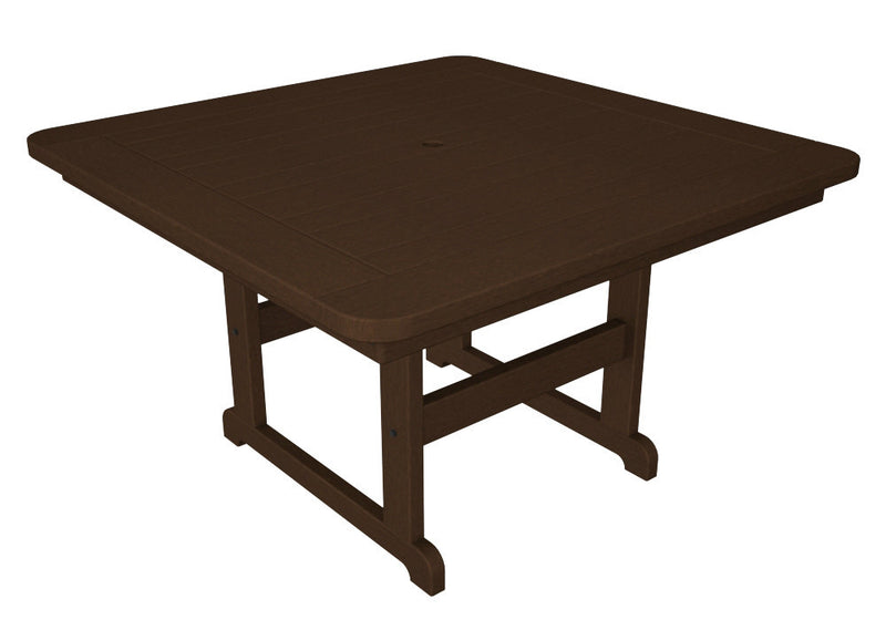 PST48MA Park 48inch Square Picnic Table in Mahogany