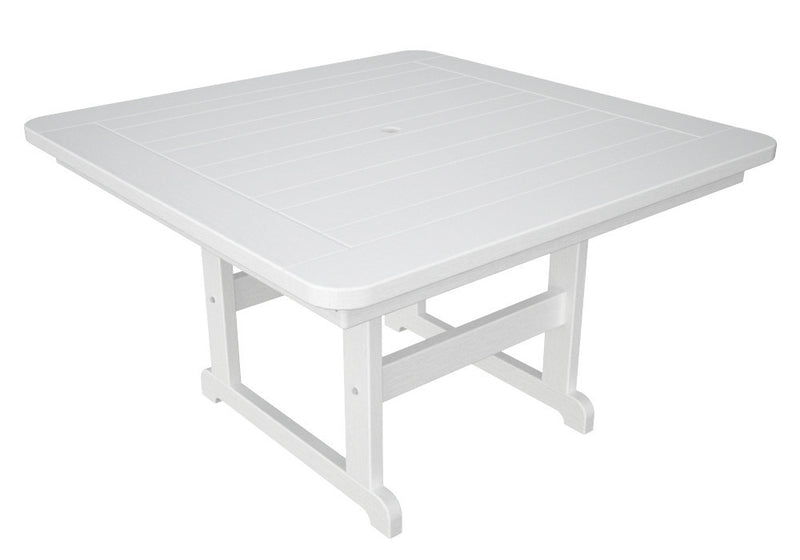 PST48WH Park 48inch Square Picnic Table in White