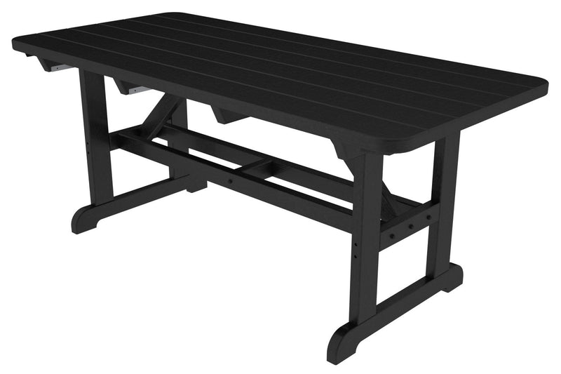 PT3672BL Park 33inch x 72inch Harvester Picnic Table in Black