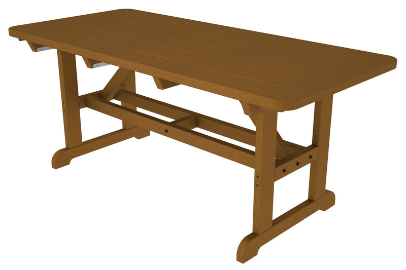 PT3672TE Park 33inch x 72inch Harvester Picnic Table in Teak