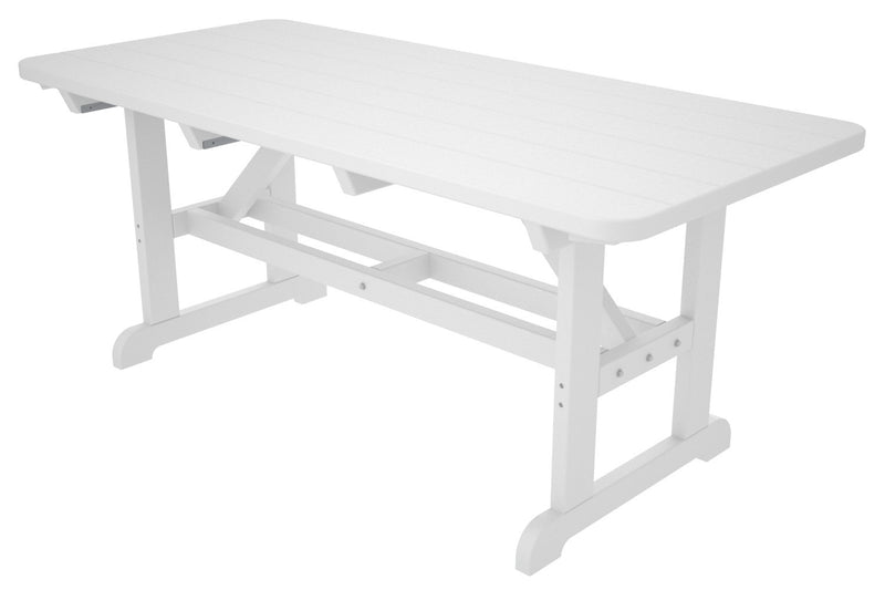 PT3672WH Park 33inch x 72inch Harvester Picnic Table in White