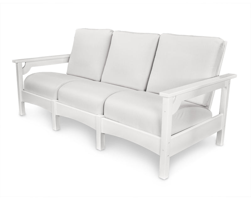 PWCLC71WH-5472 Club Deep Seating Sofa with a White frame and Birds Eye fabric