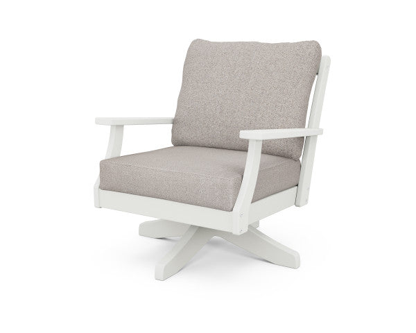 Braxton Deep Seating Swivel Chair - Vintage Finish