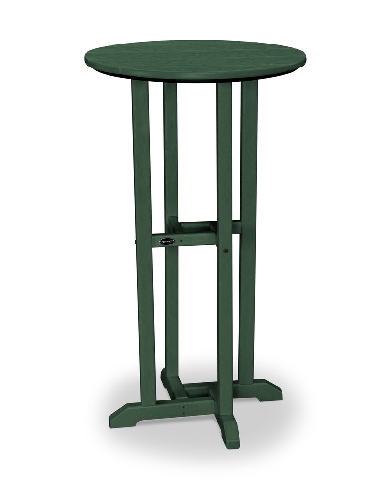 RBT124GR Traditional 24inch Round Bar Table in Green