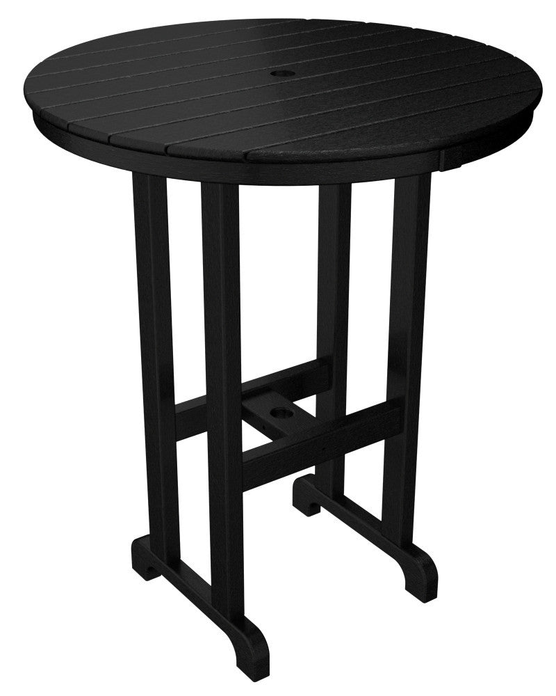 RBT236BL Round 36inch Bar Table in Black