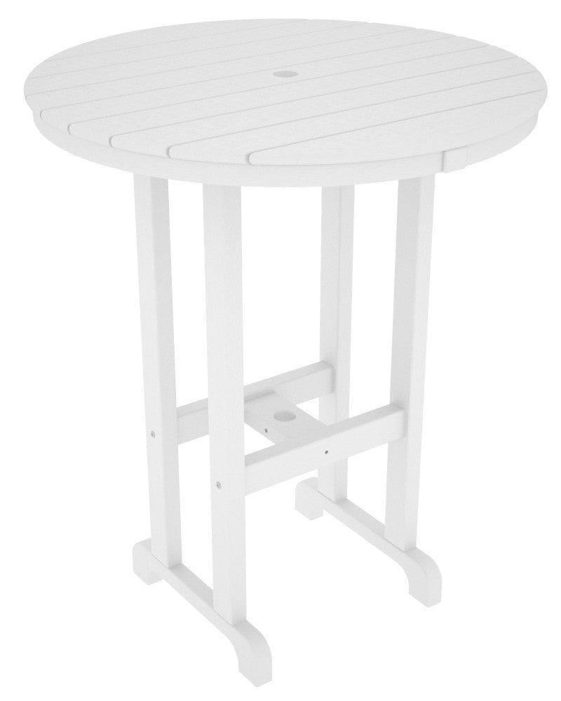 RBT236WH Round 36inch Bar Table in White