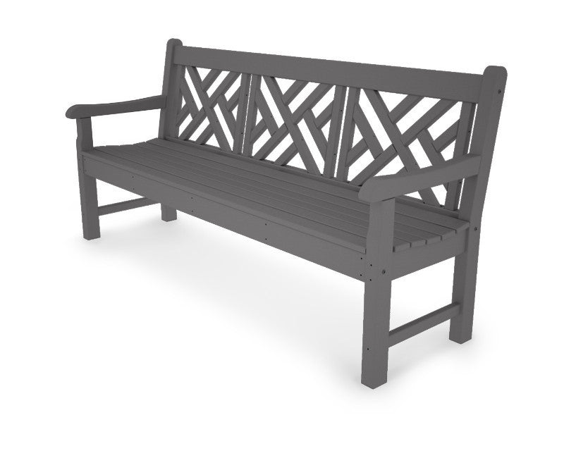 RKCB72GY Rockford 72inch Chippendale Bench in Slate Grey