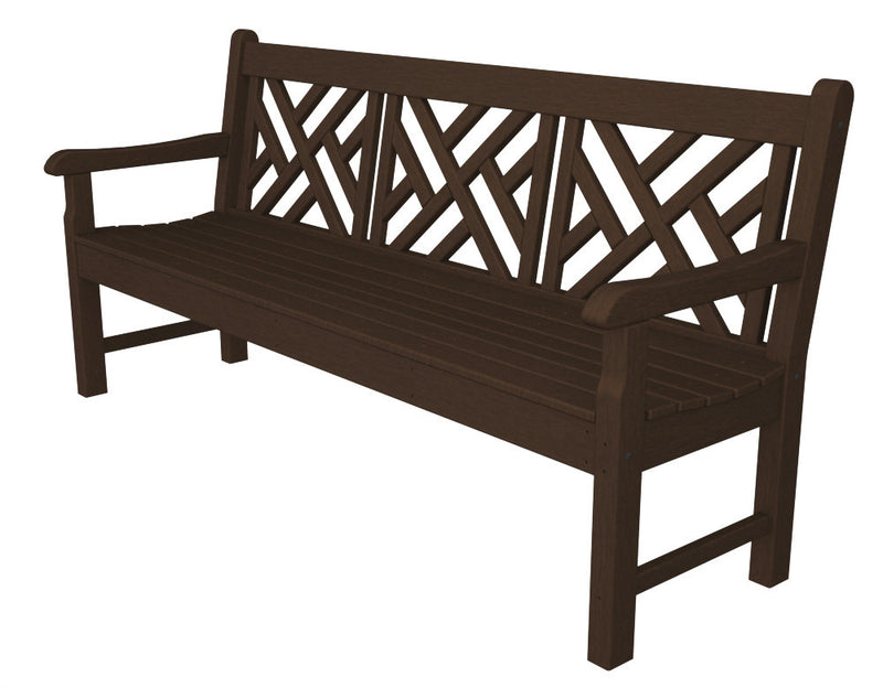 RKCB72MA Rockford 72inch Chippendale Bench in Mahogany